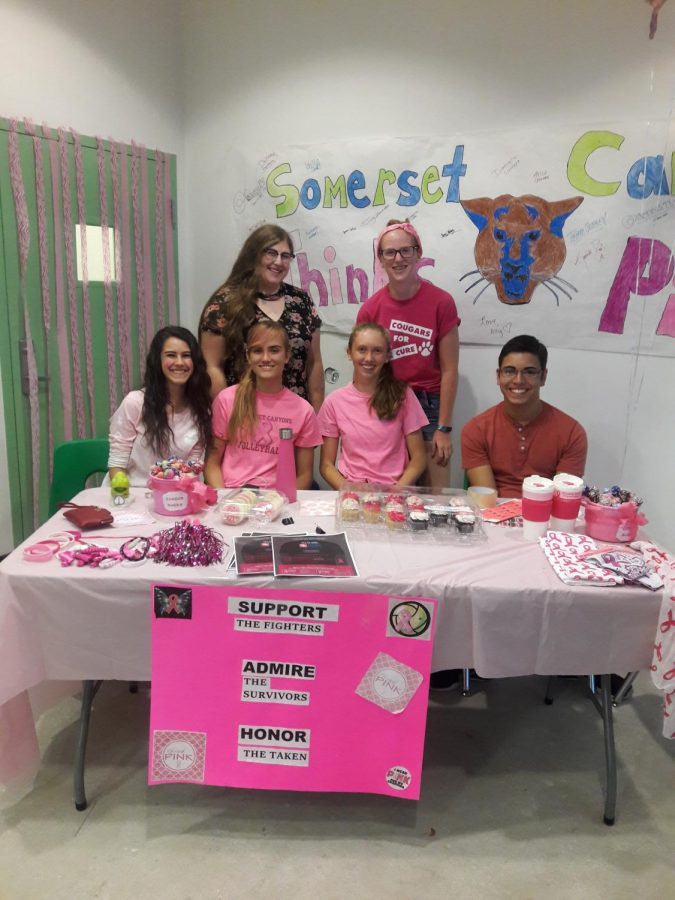 HOSA students at the concessions table.