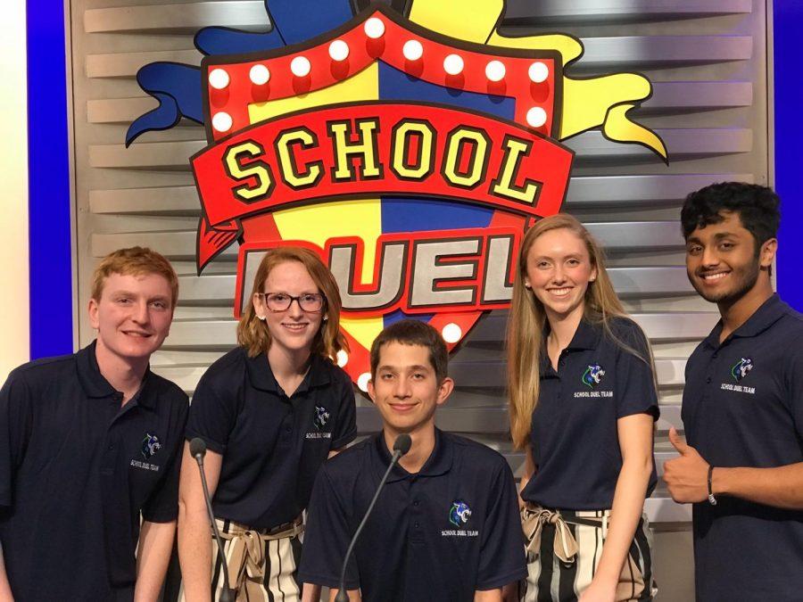 The Somerset Canyons School Duel team. From left to right: Max Granat, Enya Clancy, Braden Strackman, Emma Carter, Ashiqur Rahman.