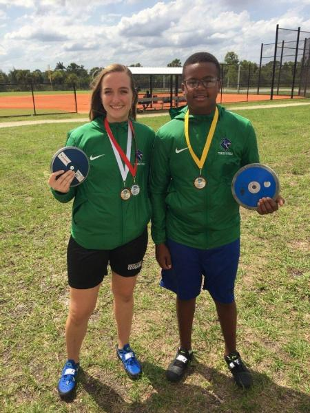 Cara Salsberry (left) and Tre'main Robinson (right).