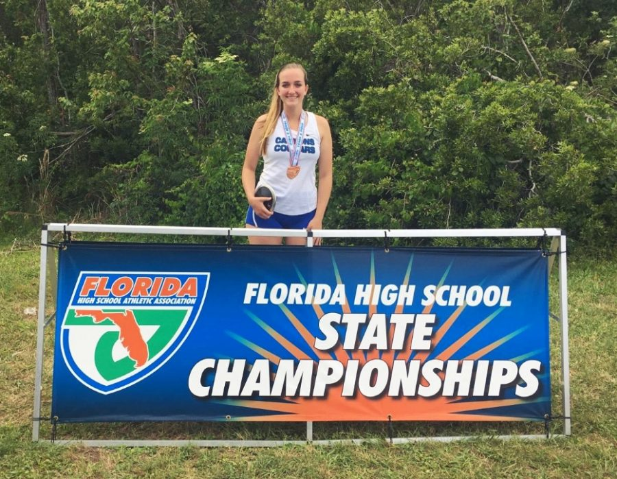 Cara Salsberry Medals in Discus at FHSSA State Games