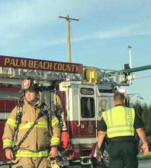 Palm Beach County Fire Rescue responded to the early morning truck fire Monday, August 26, 2018.
