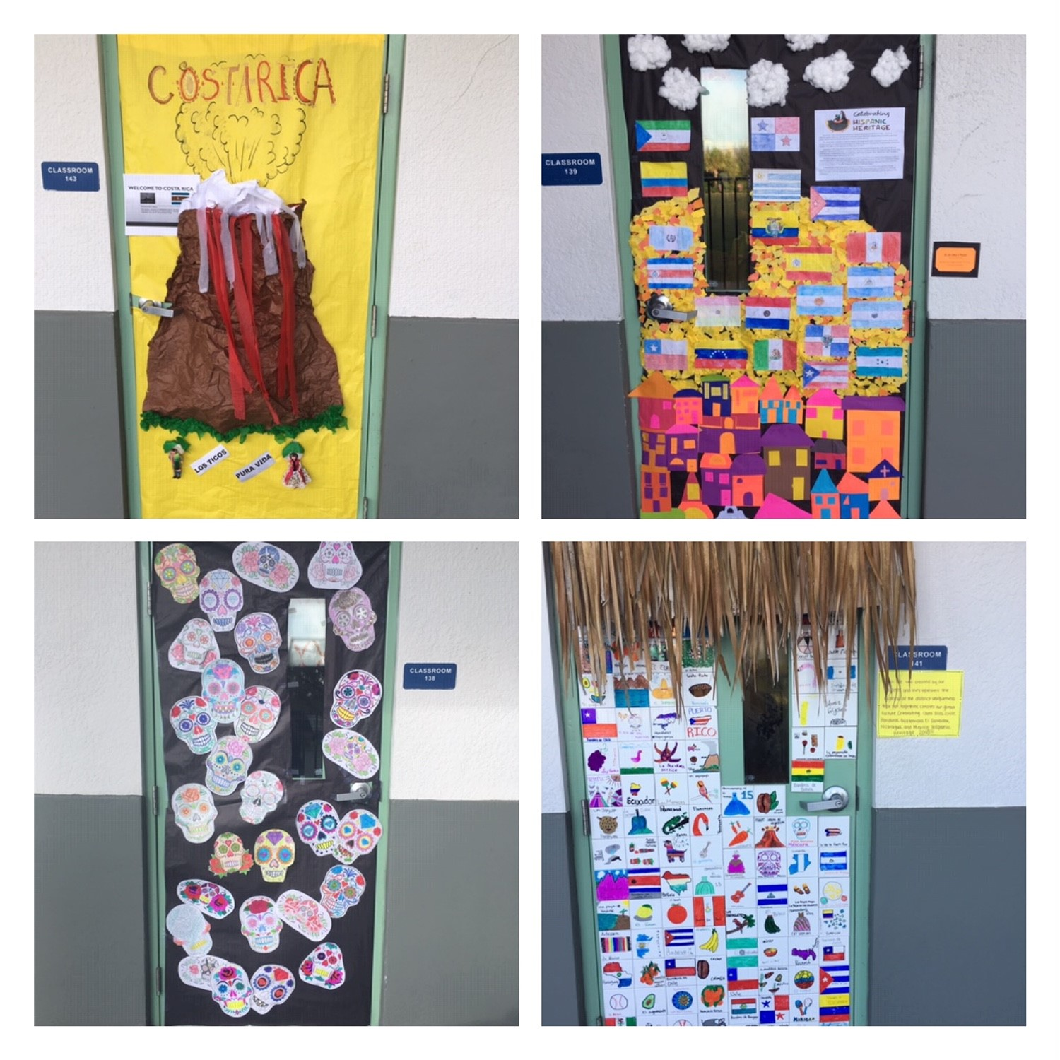 Here are some of the doors that were decorated in honor of Hispanic Heritage Month.