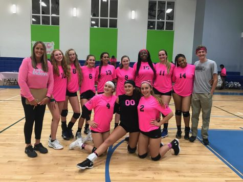 Girls Varsity Volleyball Wishes Seniors Farewell at Senior Night