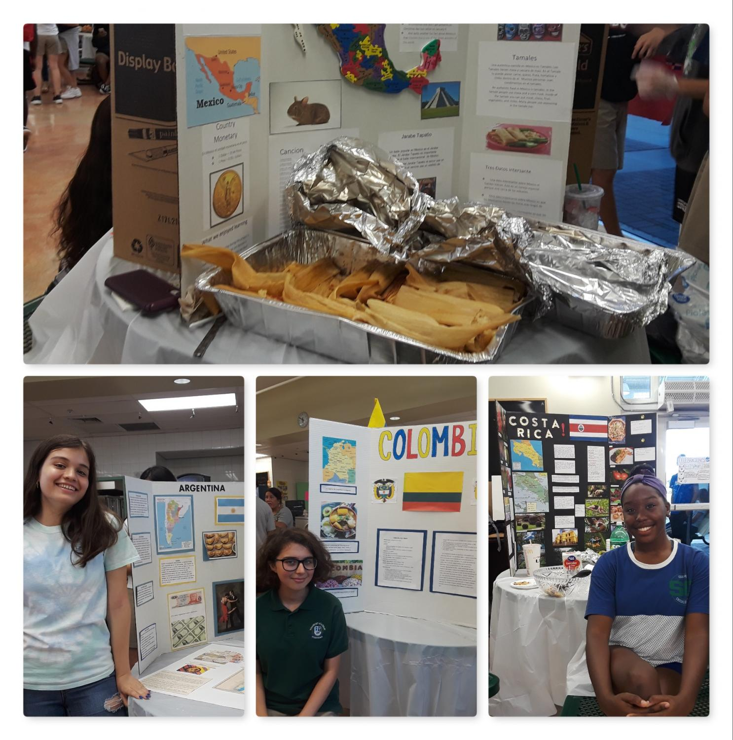 Students+present+their+projects+and+express+their+love+of+the+Hispanic+culture+and+food.