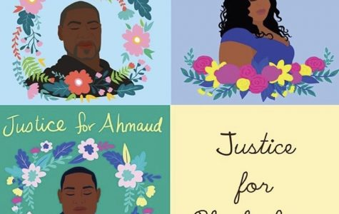 Artwork created by @shirien.creates on Instagram. Rest in peace George, Breanna, and Ahmaud. We will continue to fight for you.