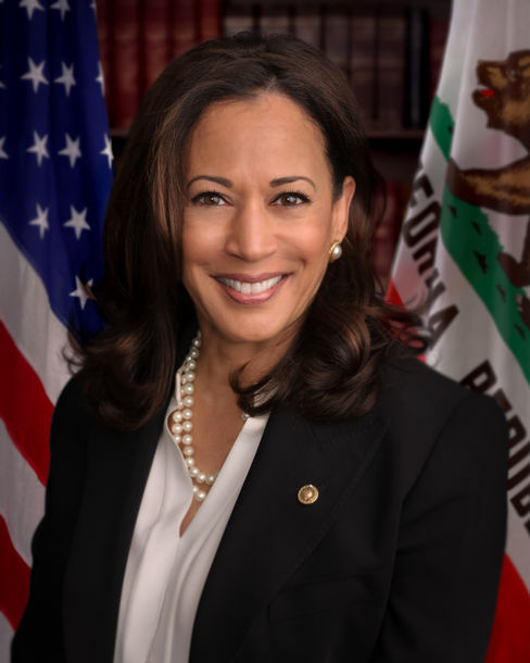 From Senator to Vice President Elect, Kamala Harris has kept her pearls right where they belong. Image credit to www.senate.gov .